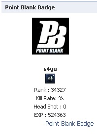 Point Blank Badge On Facebook