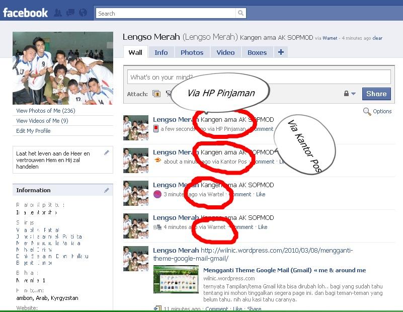 RateMe Facebook Status